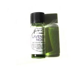 Lavender Noir - A Sumptuous Late Summer Fougère - 100% Natural Botanical Perfume - 1ml