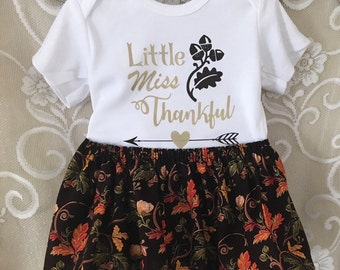 Thanksgiving Baby Outfit, Thanksgiving Baby, Thanksgiving Outfit, Thanksgiving dress, Little Miss Thankful, Thanksgiving Tutu,