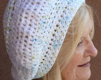 Summer Accessories white crochet hat Bohemian slouchy hat women's fashion
