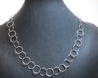 """20 Inch, Large Link Sterling Silver Chain Necklace, Sterling Silver, 14mm Cable Link Chain, Round Link, Sterling Chain, 20"""" Sterling Chain"""