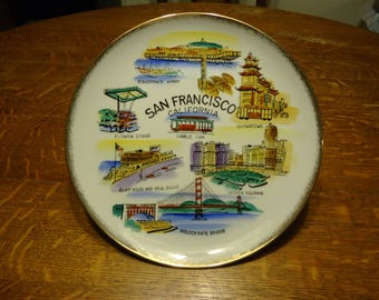 EFCCO 10.5 inch San Francisco California Hanging Collector Plate