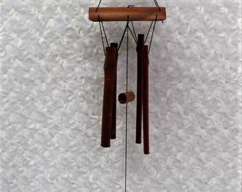 Bamboo Repurposed Light Shade Wind Chime, Frosted Glass Globe Wind Chime, Bamboo Wind Chime, Recycled, Patio Decor, Garden Decor, Upcycled