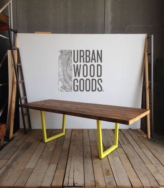 Modern Farmhouse Wood Conference/Board Room/Communal Table, Steel Legs In  Your Choice Of Color, Size, Finish. Custom Orders Ship 4 5 Wks.