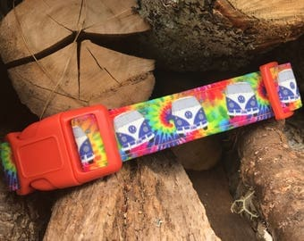Summer of 69 Tie Dye Hippie Bus Rainbow Summertime Dog Collars