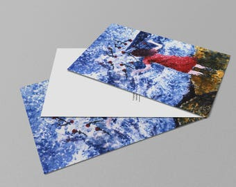 Saying Goodbye Postcard