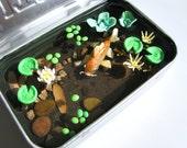 Koi Pond Altoids Tin Resin Miniature Fish and Pond Lilies