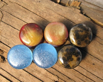 """Ear Gauges Plugs 9/16"""" (14mm) 1 PAIR light weight resin double flare"""