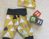 Infant Pants & Hat, baby outfit, gender neutral, boy cuff joggers