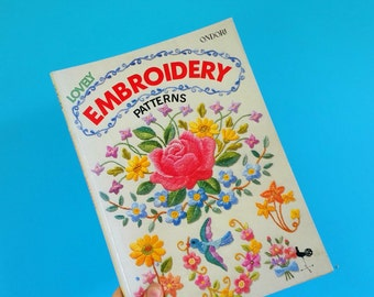 Ondori Lovely embroidery patterns. Vintage Japanese craft book. Flowers, alphabets, animals, zodiac designs to embroider.