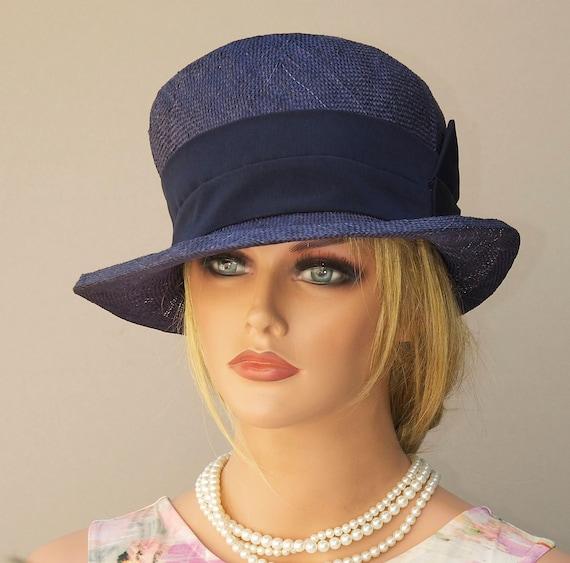 Navy hat Wedding hat On Sale Dark blue cloche Derby hat Navy Formal hat Miss Fisher hat 1920s 1930s hat vintage style hat, Downton Abbey hat