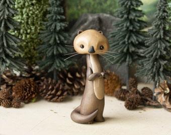 Sea Otter Figurine by Bonjour Poupette