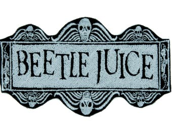 Beetlejuice Patch Iron on Applique Dark Alternative Gothic Clothing Betelgeuse  - YDS-EMPA-062-PATCH