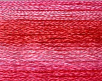 Cosmo, 6 Strand Cotton Floss, SE80-8010,  Seasons Variegated Thread, Pinks, Punch Needle,  Penny Rugs, Primitive Stitching, Sewing Accessory