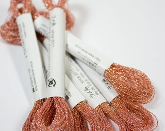 Cosmo, Sparkle Floss, 76-6,  Single Strand Metallic Floss, Coral Floss, Stitchery, Embroidery,  Decorative Stitching, Sewing Accessory