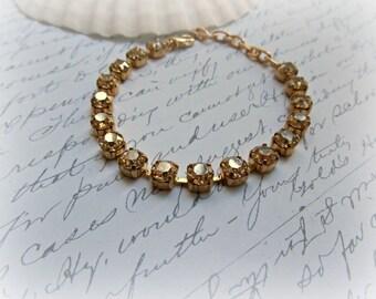 Golden Shadow Boutique Style bracelet, Swarovski Crystal bracelet