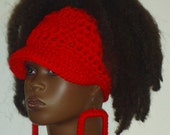 Made to Order Up Top PonyTail Crochet Baseball Cap with Earrings  by Razonda Lee Razondalee Choose Your Color