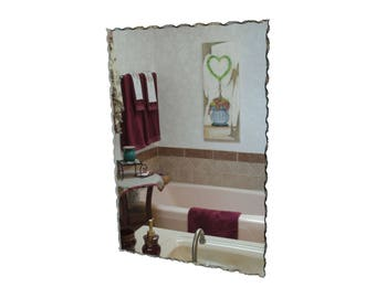 "22"" x 32"" Back Chipped Frameless Rectangle Mirror"