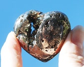 Pyrite Stone Heart / Pyrite Crystal / Gift for Him / Pyrite Stone / Pyrite Druzy Stone / Buy Pyrite / Iron Pyrite Heart / Pyrite Fools Gold