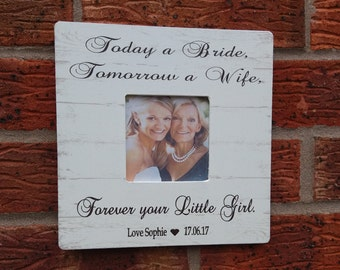 Today a bride tomorrow a wife forever your little girl wedding gift personalized 8x8 inch