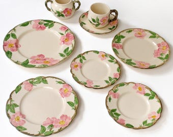 Franciscan Desert Rose Dishes California Pottery
