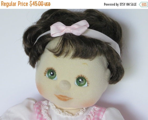 ON SALE 1985 Vintage Mattel My Child Doll-Brunette with Green Eyes-Dressed