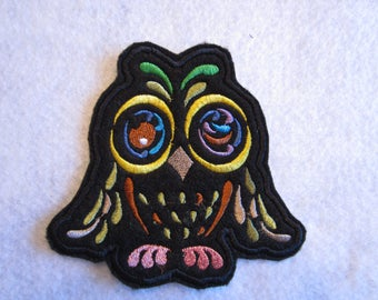 Embroidered Art Deco Owl Iron On Patch, Owl Patch, Owl Applique, Iron On Owl, Art Deco Owl, Iron On Patch, Iron On Applique, Owls