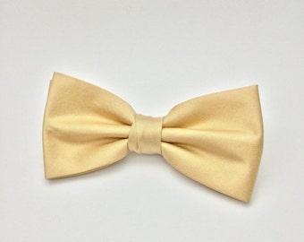 SALE Solid Neutral Beige Bow Tie THAI Silk Solid Plain Pre tie Bow Tie Clip-On Wedding Men Children Baby Boy Groom Groomsmen  Christening Gi