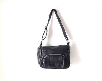 MINOLTA vintage black leather CAMERA CASE camera bag