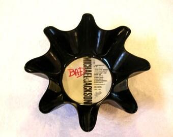 Michael Jackson Record Bowl Made From Repurposed Vinyl Album