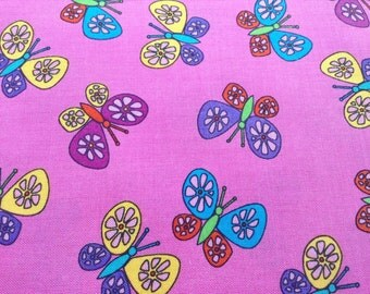 Butterflies Timeless Treasures, 100% cotton quilting sewing fabric, By The Yard, Quilt Shop Quality Fabric