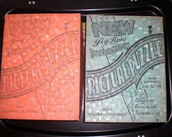 Puzzle lot, Jig Time, Chilcote company, Cleveland Ohio, 30's