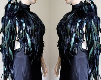 Feather Valkyrie wings sleeve long glove
