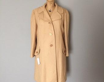 camel wool coat | 1970s coat wool coat