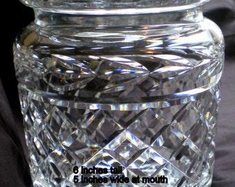 Vintage 1970's Waterford Biscuit Barrel or Jar**