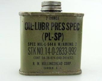 WW2 2oz Military Issue Oil Lubr Tin
