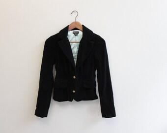Vintage 90s Black Velvet Jacket by Guess