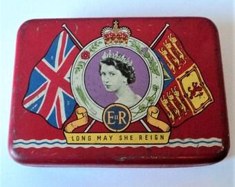 Queen Elizabeth II Coronation Tin... OXO Advertising... 1952