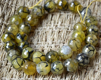 30 beads Faceted agate stone nugget stone Beads, stone beads,agate stone beads loose strands