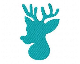 Reindeer Christmas Machine Embroidery Design 3 // Joyful Stitches