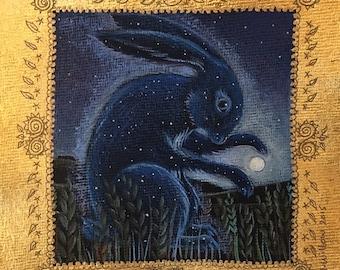 Moon Hare greetings card