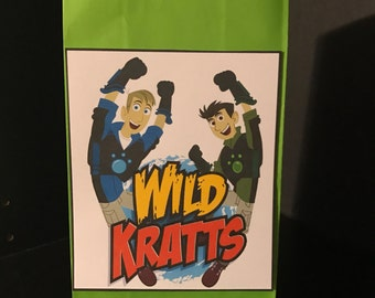 Wild Kratts  - Set of 10 Birthday Party Favor Treat Bags