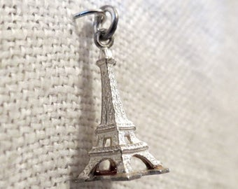 Eiffel Tower 3D Sterling Silver Charm Pendant