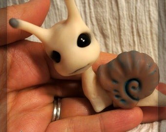 RESERVED -Slimey the Snail - BJD ball joint doll– fair/chocolate brown