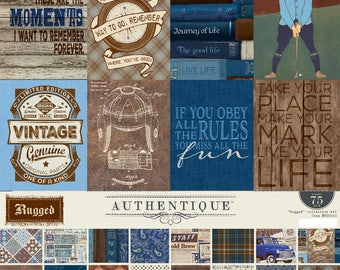 Rugged Authentique 12 x 12  Collection Kit, Masculine, Father's Day