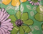 lovely vintage vinyl tablecloth