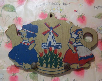 tiny wooden dutch plaque