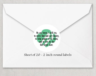 Envelope Seals - Girl Scout Seals #2