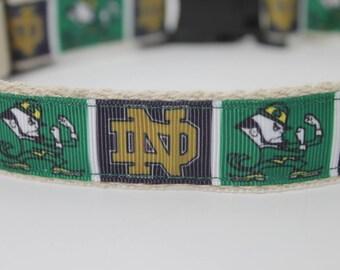 Notre Dame hemp dog collar or leash