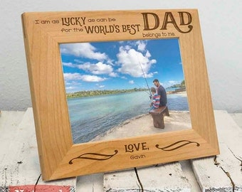 Personalized Worlds Best Dad Frame - Personalized Christmas Gifts For Dad - Christmas Gifts For Him - Dad Christmas Gift - Dad Picture Frame