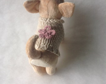 Knit sweater chihuahua by nerina52 Alpaca coat for Puppy chihuahua or small dogs Winter High fashion for Puppy Alpaca sweater Gift for pets
